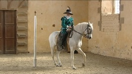 Dressage display at Bolsover Castle