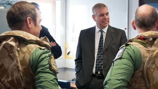 Prince Andrew flies final helicopter simulation