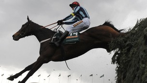 Shakalakaboomboom ridden by Barry Geraghty clear The Chair
