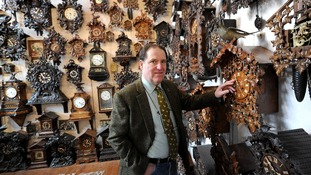 Roman Piekarski at his Cuckooland Museum in Tabley, Cheshire