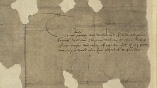 The document that bears the former King's signature