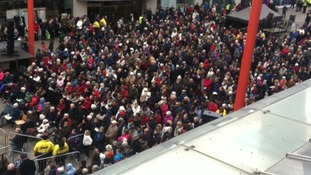 Hundreds gather to watch the 'Christ in the Centre Passion Play in Leicester
