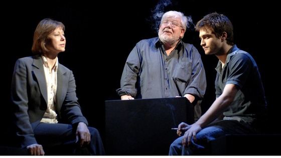Richard Griffiths (C) in the theatre production of Equus at the Gielgud Theatre in London