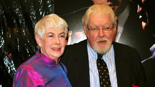 Richard Griffiths and guest arrive for the premiere of Harry Potter and the Chamber of Secrets in London in 2002