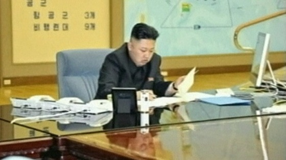 Kim Jong-un pictured on state media today