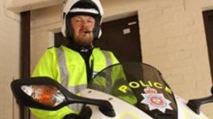 Derbyshire Police biker