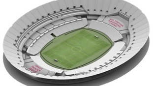 Stage B: The post-conversion Olympic Stadium in football mode