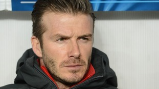 David Beckham said he 'feels fit enough to start' when Paris Saint-Germain takes on Barcelona.
