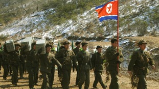 North Korea news agency photo allegedly depicting the army on exercise