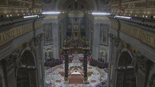 Pope Francis took the mass at St. Peter's Basilica.