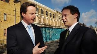 David Cameron with the Conservative Party Chairman Grant Shapps