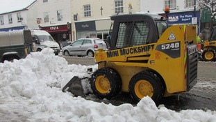 Diggers make light work of clearing snow