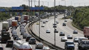 M25 motorway in London