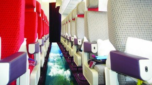 Virgin Atlantic's new 'glass bottom plane'