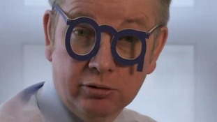 Education Secretary Michael Gove modelling the Guardian Goggles