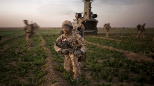 Royal marines in Helmand province, Afghanistan