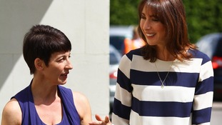 Anna Kennedy (left) with the Prime Minister's wife Samantha Cameron.
