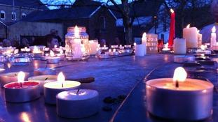 Candle lit vigil