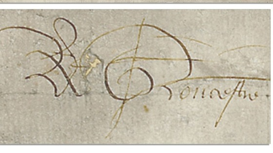 The former King's signature
