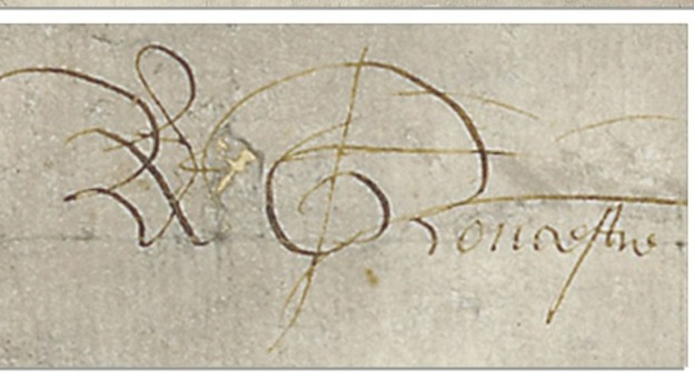 The former King&#x27;s signature 