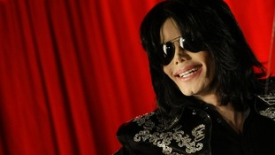 Michael Jackson at a news conference to announce the This Is It tour in 2009