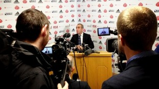 Paulo Di Canio giving his first press conference