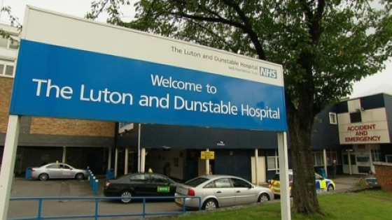 Fans are receiving treatment in The Luton and Dunstable Hospital