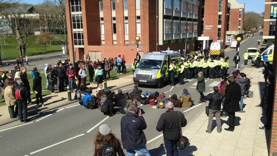 Sussex protest