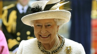 The Queen during a recent visit to Baker Street Tube Station