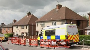Police van outside the home