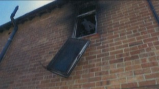 The ferocity of the fire led to the double glazing melting and windows coming from their frames