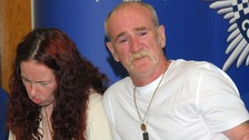 Mick Philpott and wife Mairead speak to the media shortly after causing the deaths of six of their children.