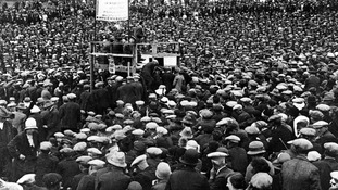 Mass meeting of Durham miners during the industrial strike of 1926