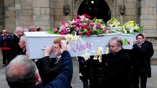 The funeral of the six Philpott children takes place