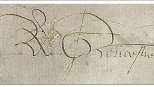 King Richard III's signature