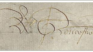 King Richard III's signature