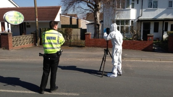 The scene where a man was stabbed in Hereford