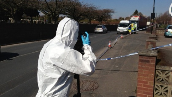Forensic officers on the scene