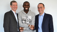 Dr Andrew Deaner, Fabrice Muamba, and Dr Sam Mohiddin,