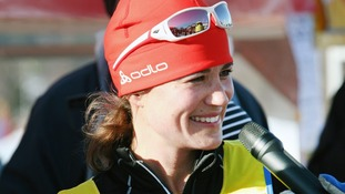 Pippa Middleton taking part in the 90 km long cross country skiing competition Vasaloppet last year