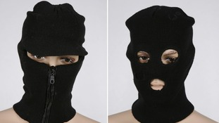 Black balaclavas found in the Fiat Punto