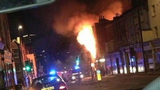 35 firefighters tackle overnight blaze in Bristol