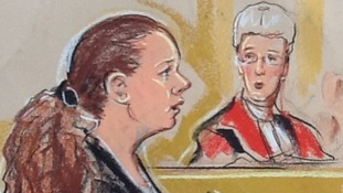 Court sketch of Mairead Philpott (L) in court