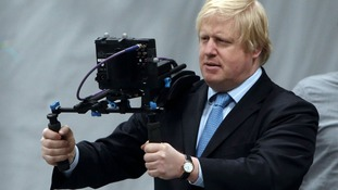 Boris Johnson taking part in a performance capture session at Ealing Studios