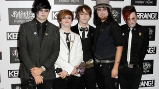 Keir Kemp (far right) is a vocalist and guitarist with Fearless Vampire Killers