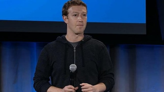 Mark Zuckerberg at the launch in California