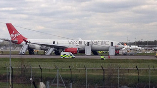 Injuries after pilot lands smoking plane at Gatwick
