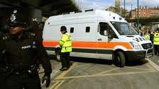Van believed to be transporting Mick Philpott leaves Nottingham Crown Court