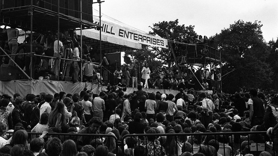 The Rolling Stones play Hyde Park in 1969.