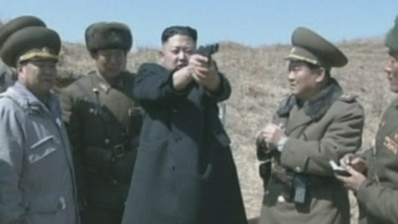 North Korea&#x27;s leader Kim Jong-Un takes aim